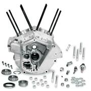 Sands Cycle 31-0001 Super Stock Engine Case - Natural - Big Bore 3 5/8in Bore