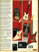 Vtg Sears Catalog Pointy Electric Guitar