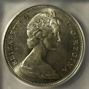 1965 Canadian Silver Dollar 1 Coin Graded Icg - Ms64 Free Worldwide Shipping