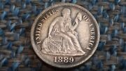 1889 Liberty Seated Dime In Very Fine Plus