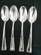 4 Oneida Classic Pearl Oval Soup Spoon Stainless 18/10 Glossy Beaded Tip
