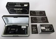 Vintage Olympus Xa 35mm Rangefinder Camera + A11 Electric Flash W/ Boxes And Paper
