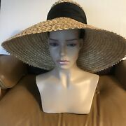 Eugenia Kim Mirabel 100 Woven Straw Sun Hat W/ Satin Bow - 495.00 - Sold Out