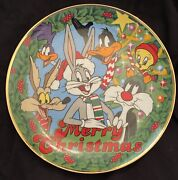 Looney Tunes Set Of 2 Christmas Collector Plates Franklin Mint