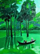 Original Oil Painting Viet Nam Without Frame Size 9x7 24x18 Cm Canvas Board