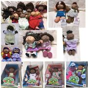 Rare Lot Of 22 Cabbage Patch Kids Dolls Mostly Brown Or African - 4 Nib