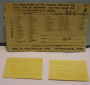 Ho Decals 934 Up Union Pacific Diesel Switcher 10213456720 By Walters Decal