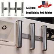 3 And 4 Tubes Rod Rack Stainless Steel Mirror Fishing Rod Holder For Boat/truck Rv