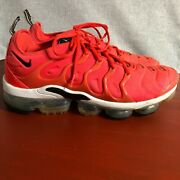 Nike Air Vapormax Plus Men's Size 12 Running Shoes Red White Athletic Sneakers