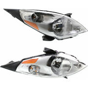 For Chevy Spark Headlight 2013 2014 2015 Lh And Rh Pair Halogen Capa Gm2502368