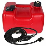 Veithi 3 Gallon/12l Rectangular Portable Boat Fuel Tank With Hose Connector For