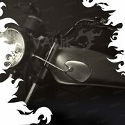 Vawik Mirrors Stan Square Chrome Headlight Mount Vintage Style Early Motorcycle