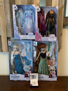 2021 Disney Store Elsa Anna Hair Play Dolls And Accessory Packs Frozen Necklace