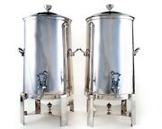 Bon Chef 42005s 5 Gallon Insulated Silver Plated Coffee Urns Matching Set