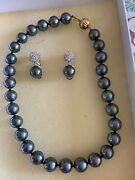 Designer Pearl Necklace And Earrings From Tenerife Pearl
