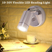 Marine Rv Dc 12v 24v Led Reading Light Lamp 160lm Touch Button Usb Rechargeable