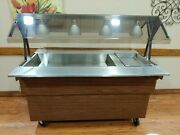 Refrigerated Salad Bar With Sneeze Guard And Heater Well. 60and039 Tested Works Well.