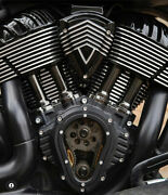 Clarity Cam Cover In Black For Indian Motorcycle Chief Chieftain Roadmaster