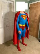 Superman Replica Cosplay Suit Action Costumes Gold Edition Tunic + Pants
