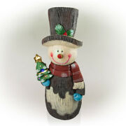 Outdoor Christmas Decoration 48 In. Snowman Solar Color Changing Led Lights