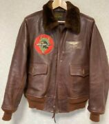 Buzz Ricksonand039s Flight Jacket 20th Limited An-j-3a Rare Size L Brown Authentic