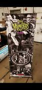 Munsters Black And White Stern Pinball Banner