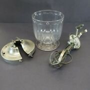 Antique Ladd Mixer Churn No. 1 Glass Bowl With Lid And Beater Patented 1921