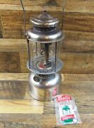 Vintage Coleman Quick-lite Double Mantle Lantern W/ Pyrex Globe Dated 6 7 Tested