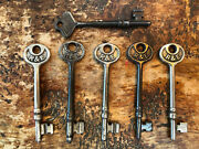 Vintage/antique Collection Of Steel R And E Russell And Erwin Skeleton Keys