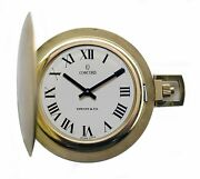 Vintage 1960and039s And Co 14k Gold Pocket Watch By Concord Near Mint Condition