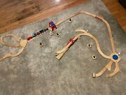 Melissa And Doug Wooden Train Set With Accessories