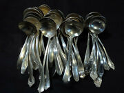 Lot Of 42 Antique Silverplate Cream Dipper Ladles Craft Or Table Flatware