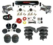 Complete 3/8 Manual Toggle Air Ride Suspension Kit Air Bag Fits 88-98 Chevy C15