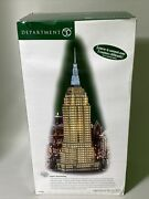 Dept 56 Christmas In The City Series Lighted Empire State Building 59207 2003