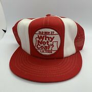 Vintage Old Ben Why Not Coal Mining Mesh Snapback Trucker Hat Patch Company Cap