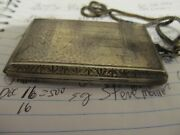 Antique Evans Nickel Silver Compact Case With Mirror Chain Handle L@@k
