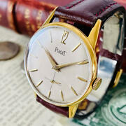 Piaget 1950s Mens Vintage Watch Small Second Hand Winding Antique Watch