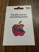 Apple 50.00 App Store And Itunes Gift Card - Physical Card / No Email / Usps Only