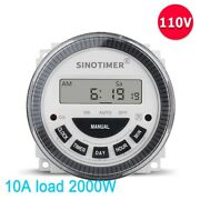 Digital Lamp Timer Programmable Switch 2000w Ac 120v Weekly Dustproof Cover Kits