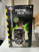 Ghostbusters Proton Pack Prop Green Straps Spirit Halloween. Light And Sound New