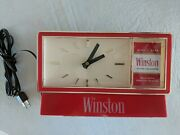 Winston Cigarettes Clock Vintage Doesn't Work Ships Free