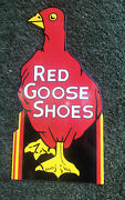 Red Goose Shoes Porcelain Steel Sign Very Large Heavy