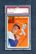 1954 Topps 1 Ted Williams Boston Red Sox Baseball Card Psa 5 Rc Ex