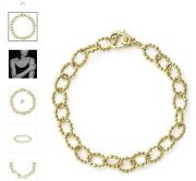 Lagos Caviar 18k Yellow Gold Link Bracelet Large Size .sold Out
