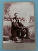 Cabinet Card- Cowboy- Leather Duster, Gloves, Chaps, Boots And Whip- Brigham, Utah