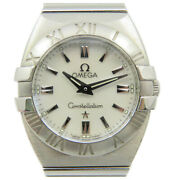 Omega Constellation Double Eagle Watch Stainless Steel White