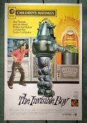 The Invisible Boy 1957, Rr1973 Original Us 40x60 Movie Poster Robby The Robot