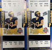 Michigan Wolverines Vs Ohio State Buckeyes Tickets Sec 6 Row 18 Seats 33and34