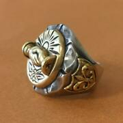 Lhn Ring Tenderloin Jewelry Mexican Size 9 Silver Brass At Lastandco Unused