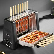 Bbq Barbecue Grill Electric Oven Spit Roaster Machine Rotisserie Smoke-free Pan